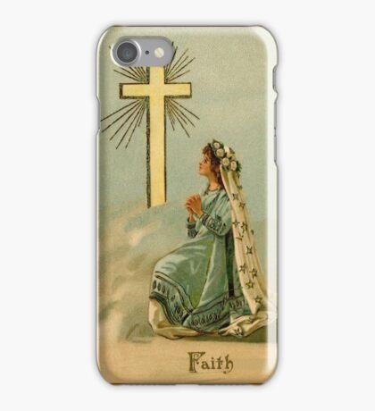 Vintage Faith devotional religious iPhone Case/Skin