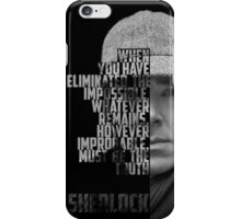 Sherlock Holems iPhone Case/Skin