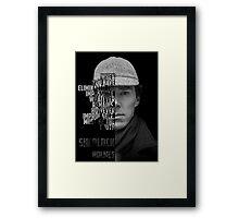 Sherlock Holems Framed Print