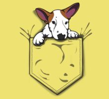 English Bull Terrier Pocket Puppy Kids Tee