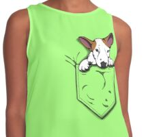English Bull Terrier Pocket Puppy Contrast Tank