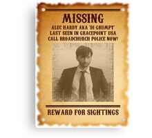 Alec Hardy 'Missing' Poster Canvas Print