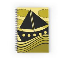 Boat - yellow Spiral Notebook
