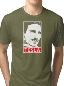 Tesla Poster Tri-blend T-Shirt