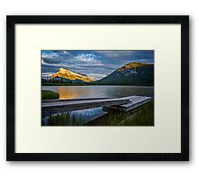 Vermillion Lakes and Mt Rundle Sunset Framed Print