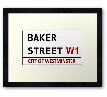 Baker Street Sign Framed Print