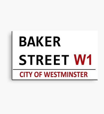 Baker Street Sign Canvas Print
