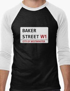 Baker Street Sign Men's Baseball ¾ T-Shirt