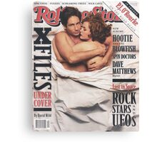 The X-Files 1996 Rolling Stone Cover Canvas Print