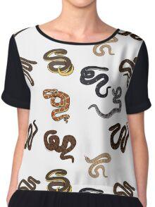Snake Print Women's Chiffon Top