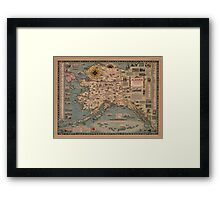 Map Of Alaska 1958 Framed Print