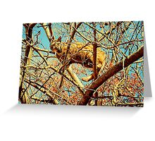 """HEAD FOR THE HILLS, I mean branches""... prints and products Greeting Card"