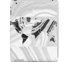 Black And White Marbled World Map - Sharon Cummings iPad Case/Skin