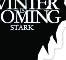 winter coming stark Sticker