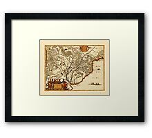 Map Of Paraguay 1671 Framed Print