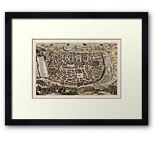 Map Of Jerusalem 1643 Framed Print