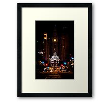 A Lonely Night on Broad Street Framed Print