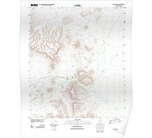 USGS TOPO Map Arizona AZ Bates Well 20111125 TM Poster