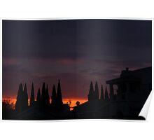 Mediterranean Silhouette Poster
