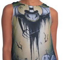 Winged Thing With Spider Strings  Contrast Tank