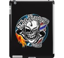 Barber Skull with Flaming Razor iPad Case/Skin