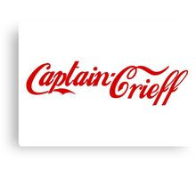 Captain Crieff (Red Version) Canvas Print