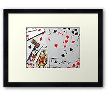 Winning Hand ! Framed Print
