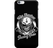 Barber Skull 3: Shaving Face iPhone Case/Skin