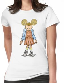 Eleven VS Minnie Mouse Womens Fitted T-Shirt