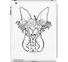 Flower Crown Bunny iPad Case/Skin