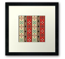 Modern Native American Pattern 2 Framed Print