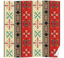 Modern Native American Pattern 2 Poster