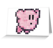 Kirby Jump Vintage Pixels Greeting Card