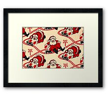 Choo-Choo Santa Retro Train Set Framed Print