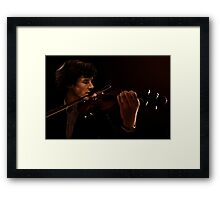 Sherlock and his Violin Framed Print