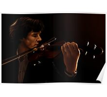 Sherlock and his Violin Poster