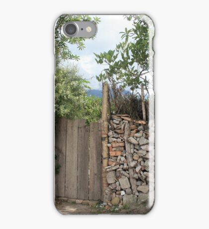 Rock and Wood Fence iPhone Case/Skin