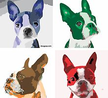 Quintet - Boston Terrier by DougPop