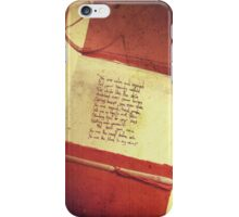 You are the smell before rain; you are the blood in my veins iPhone Case/Skin
