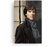 Sherlock at 221B Metal Print