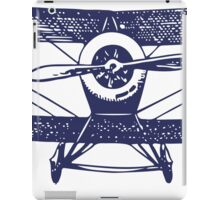 Vintage Airplane - Born to Fly iPad Case/Skin