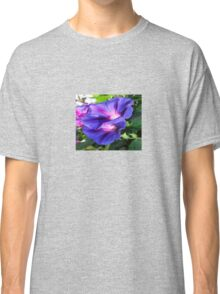 A Pair of Vibrant Morning Glories In Full Bloom Classic T-Shirt