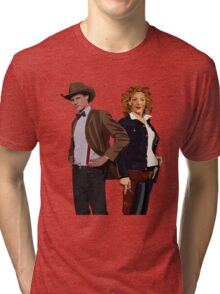 The Doctor and River Song Tri-blend T-Shirt