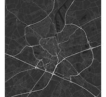 Ghent, Belgium Map. (White on black) Photographic Print