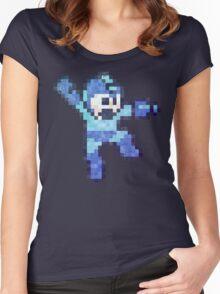 Mega Mam Jump Vintage Pixels Women's Fitted Scoop T-Shirt