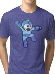 Mega Mam Jump Vintage Pixels Tri-blend T-Shirt
