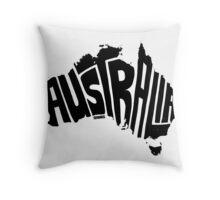 Australia Black Throw Pillow