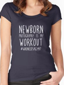 Newborn Photography Workout Women's Fitted Scoop T-Shirt
