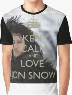 KEEP CALM AND LOVE JON SNOW Graphic T-Shirt