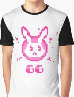 Overwatch D.Va Pixel Bunny Graphic T-Shirt
